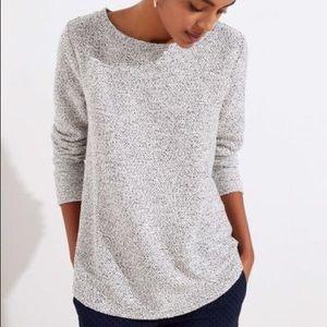 LOFT Boucle Tunic Sweatshirt - M